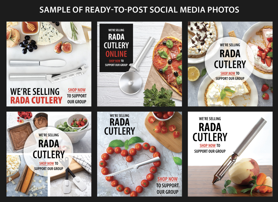 Sample of Photos included on the Social Media Toolbox